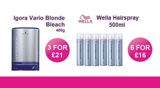 VARIO AND WELLA HAIRSPRAY